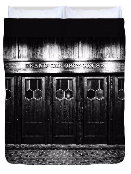 Grand Ole Opry House Duvet Cover by Dan Sproul