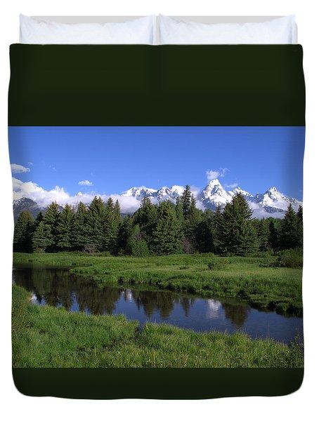 Grand Teton Reflection Duvet Cover by Brian Harig