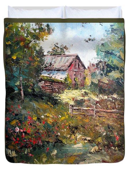 Grandpa's Barn Duvet Cover by Lee Piper