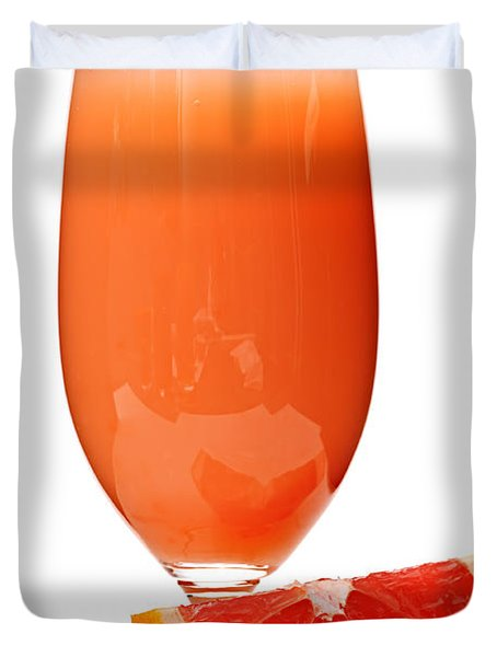 Grapefruit Juice In Glass Duvet Cover by Elena Elisseeva