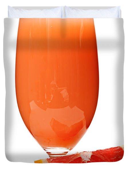 Grapefruit juice in glass Duvet Cover by Elena Elisseeva