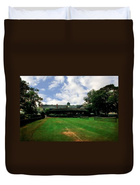 Grass Courts At The Hall Of Fame Duvet Cover by Michelle Calkins