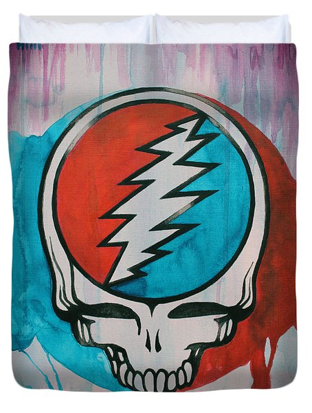 Grateful Dead Portrait Duvet Cover by Dan Haraga