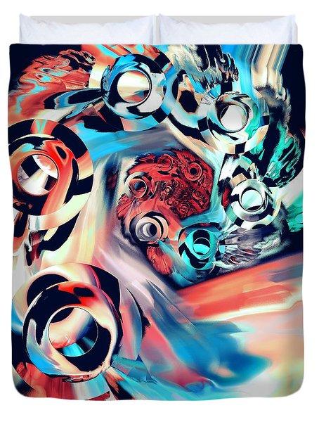 Gravity Well Duvet Cover by Anastasiya Malakhova