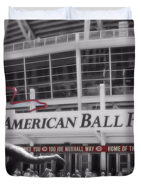 Great American Ball Park And The Cincinnati Reds Duvet Cover by Dan Sproul