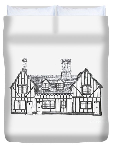 Great Bardfield St Johns Terrace Duvet Cover by Shirley Miller