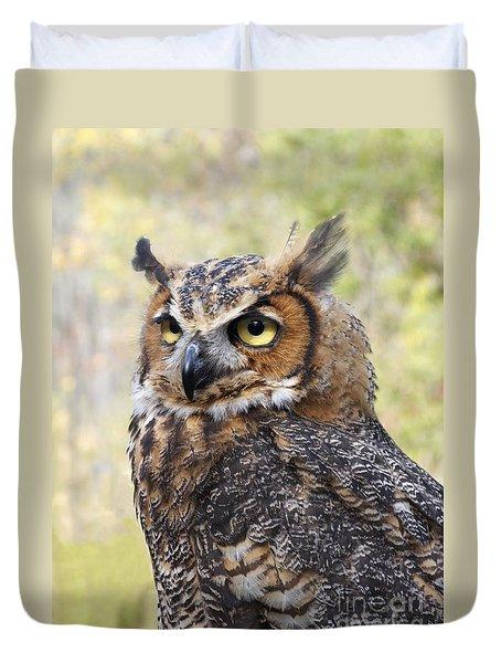 Great Horned Owl Duvet Cover by Ann Horn