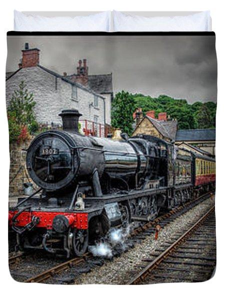 Great Western Locomotive Duvet Cover by Adrian Evans