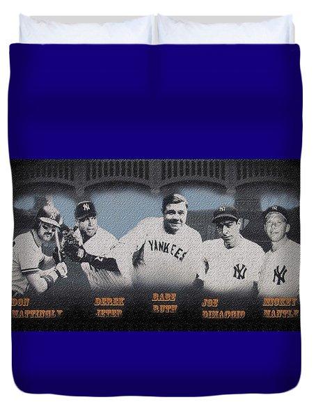 Greatest Yanks Ever Duvet Cover by Dan Haraga