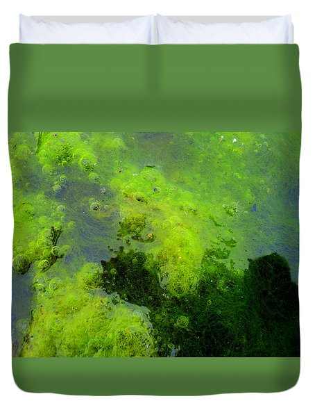 Green Algae Duvet Cover by Salman Ravish