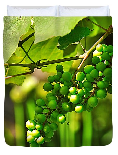 Green Berries Duvet Cover by Kaye Menner
