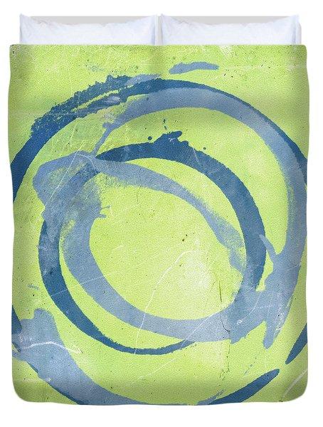 Green Blue Duvet Cover by Julie Niemela