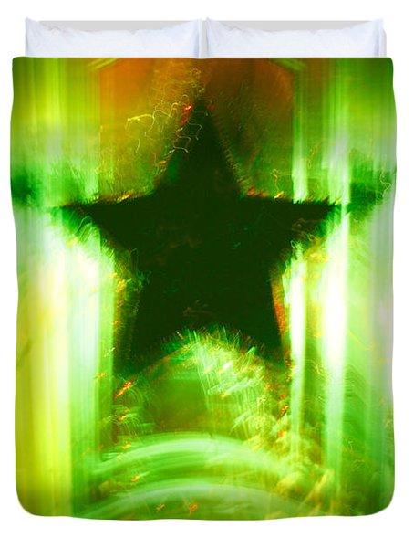 Green Christmas Star Duvet Cover by Gaspar Avila