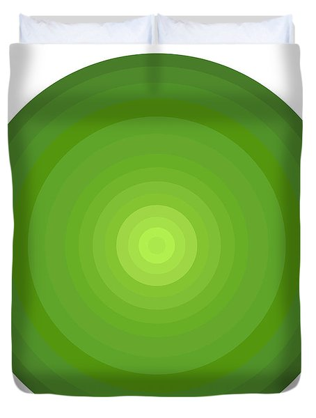 Green Circles Duvet Cover by Frank Tschakert