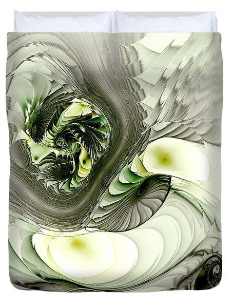 Green Dragon Duvet Cover by Anastasiya Malakhova