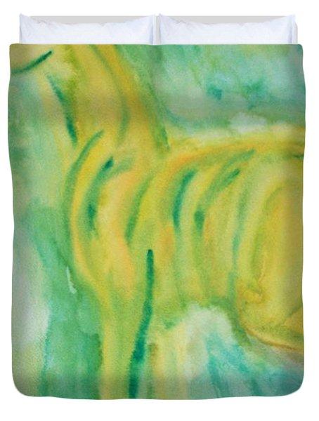 green hope Duvet Cover by Hilde Widerberg