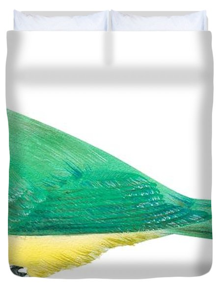 Green Jay Duvet Cover by Anonymous