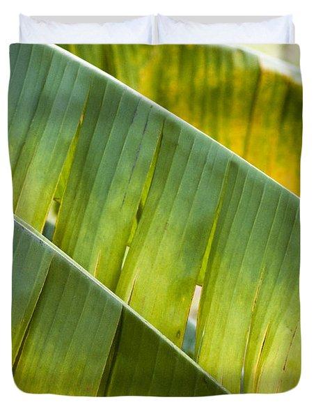 Green Leaves Series 14 Duvet Cover by Heiko Koehrer-Wagner