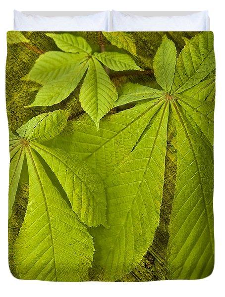 Green Leaves Series Duvet Cover by Heiko Koehrer-Wagner