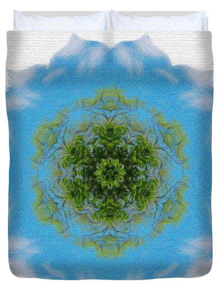 Green Planet Duvet Cover by Jeff Kolker
