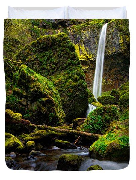 Green Seasons Duvet Cover by Chad Dutson