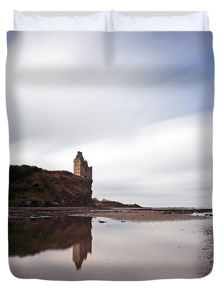 Greenan Castle Duvet Cover by Grant Glendinning