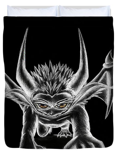 Grevil Chalk Duvet Cover by Shawn Dall