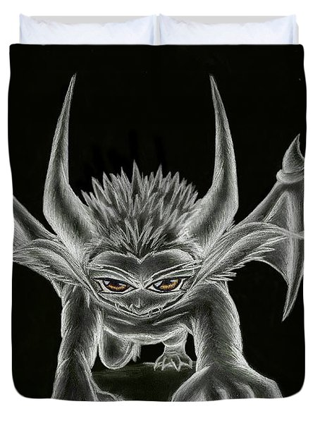Grevil Statue Duvet Cover by Shawn Dall