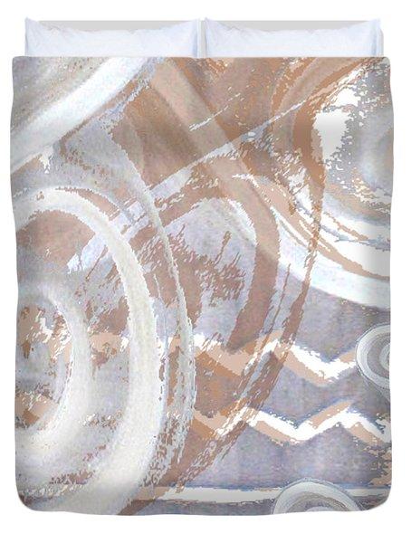 Grey Abstraction 2 Duvet Cover by Eva-Maria Becker