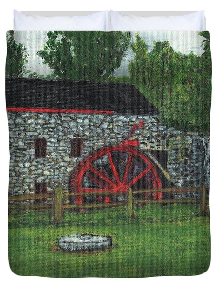 Grist Mill At Wayside Inn Duvet Cover by Cliff Wilson