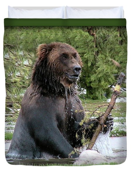 Grizzly Bear 07 Duvet Cover by Thomas Woolworth