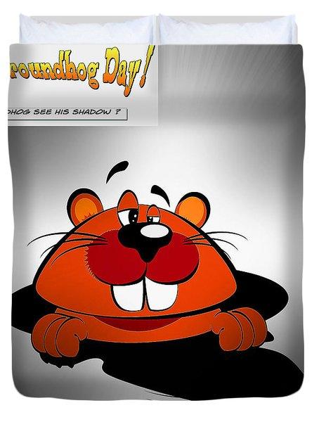 Groundhog Day Duvet Cover by Stefano Senise