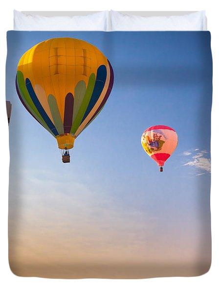 Group Of Balloons Duvet Cover by Inge Johnsson