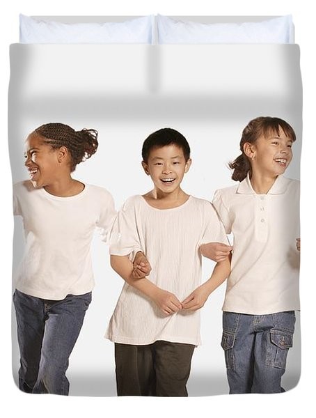 Group Of Children Duvet Cover by Don Hammond