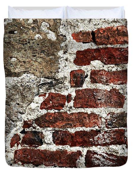 Grunge Brick Wall Duvet Cover by Elena Elisseeva