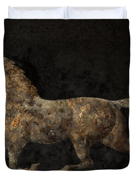 Grungy Antique Weathervane Duvet Cover by John Stephens