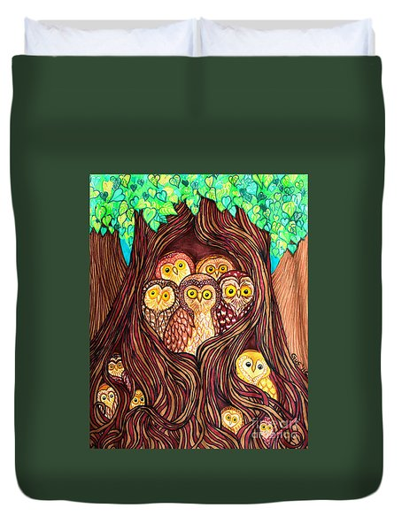 Guardians Of The Forest Duvet Cover by Nick Gustafson