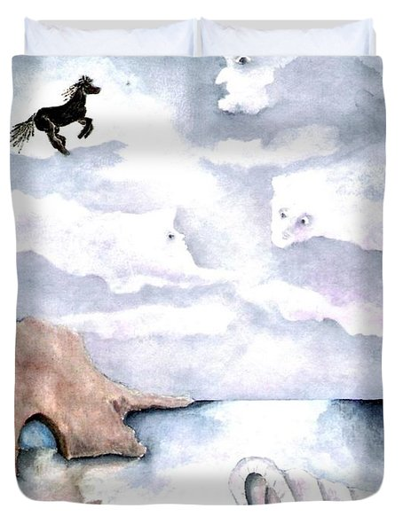 Guardians Duvet Cover by Pamela Allegretto