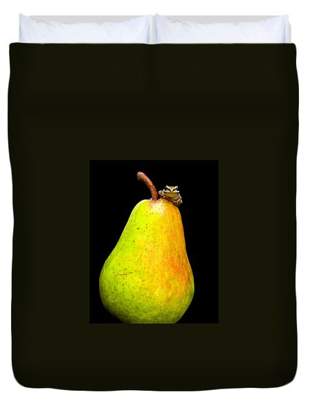 Guest A-pear-ance Duvet Cover by Jean Noren