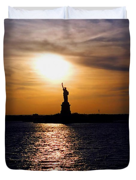 Guiding Light Duvet Cover by Joann Vitali