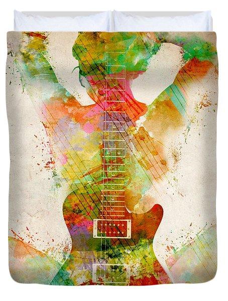 Guitar Siren Duvet Cover by Nikki Smith