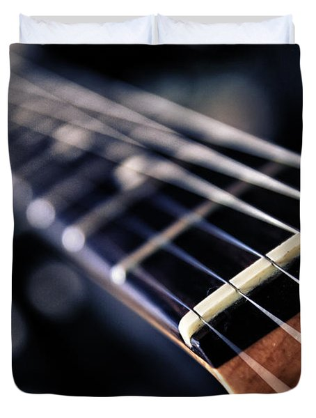 Guitar Strings Duvet Cover by Stylianos Kleanthous