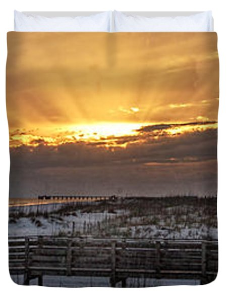 Gulf Shores From Pavilion Duvet Cover by Michael Thomas
