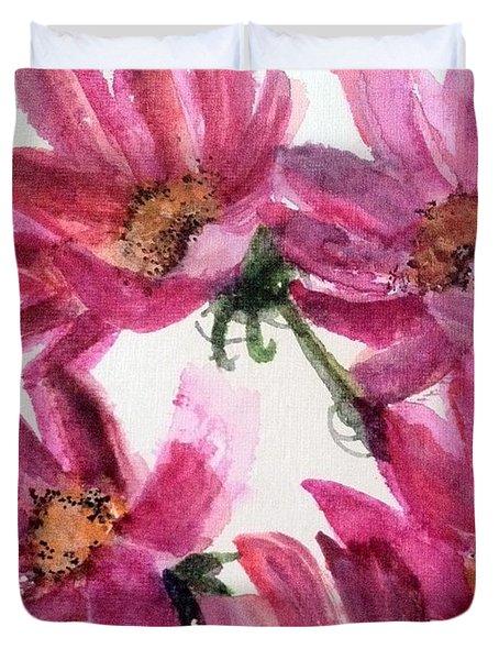 Gull Lake's Flowers Duvet Cover by Sherry Harradence