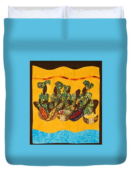 Gumbo Ladies Duvet Cover by Aisha Lumumba