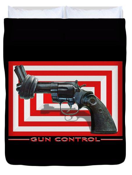 Gun Control Duvet Cover by Mike McGlothlen