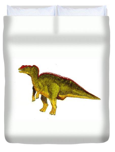 Hadrosaurus Duvet Cover by Michael Vigliotti