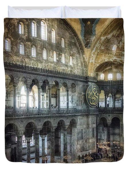 Hagia Sophia Interior Duvet Cover by Joan Carroll