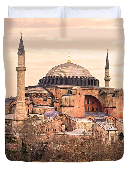 Hagia Sophia Mosque - Istanbul Duvet Cover by Luciano Mortula