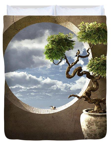 Haiku Duvet Cover by Cynthia Decker